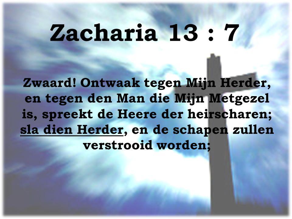 Zacharia 13 : 7 Zwaard.