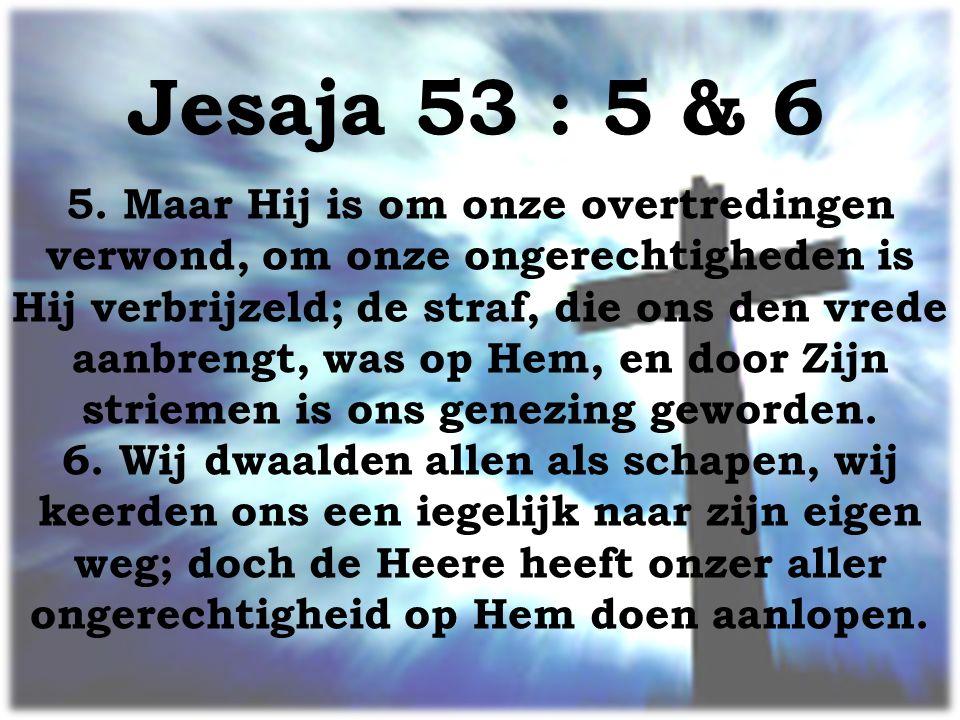 Jesaja 53 : 5 & 6 5.