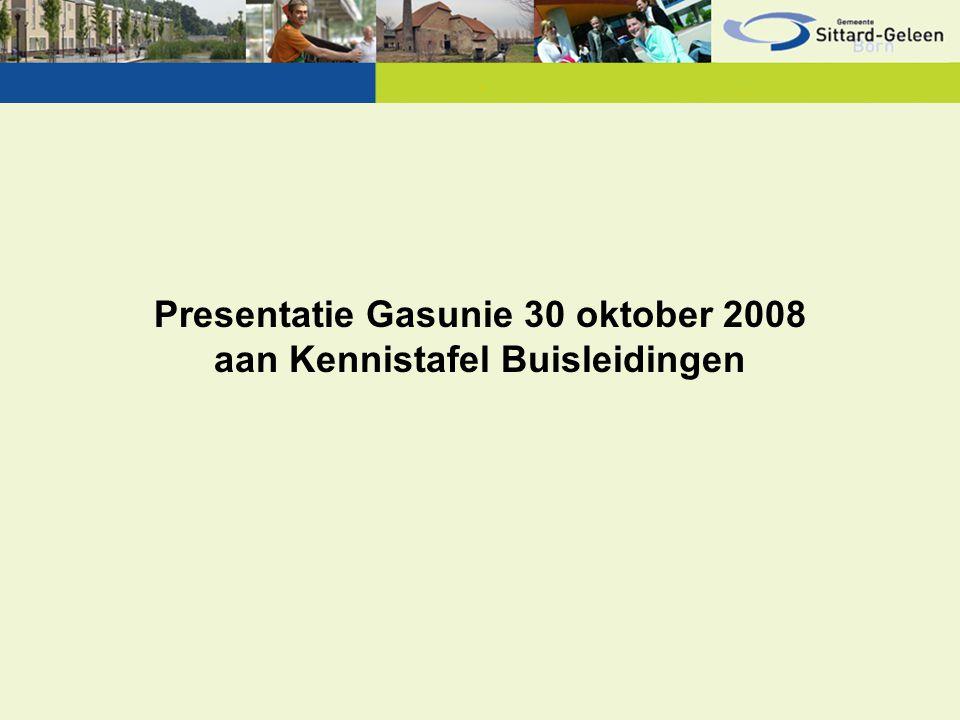 Presentatie Gasunie 30 oktober 2008 aan Kennistafel Buisleidingen