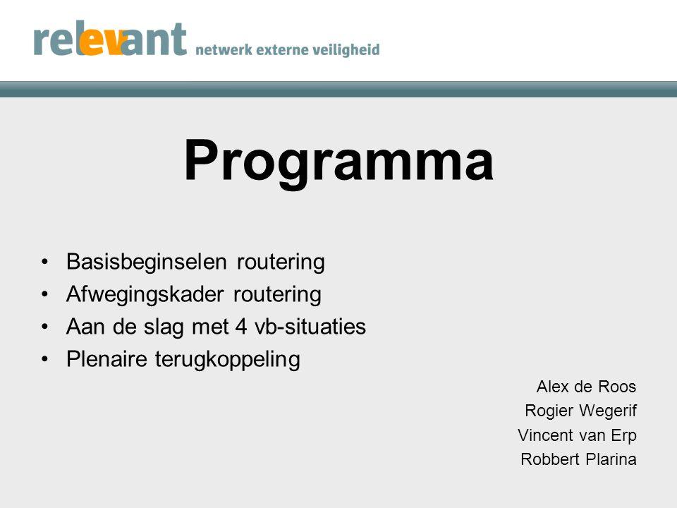 Basisbeginselen Alex de Roos
