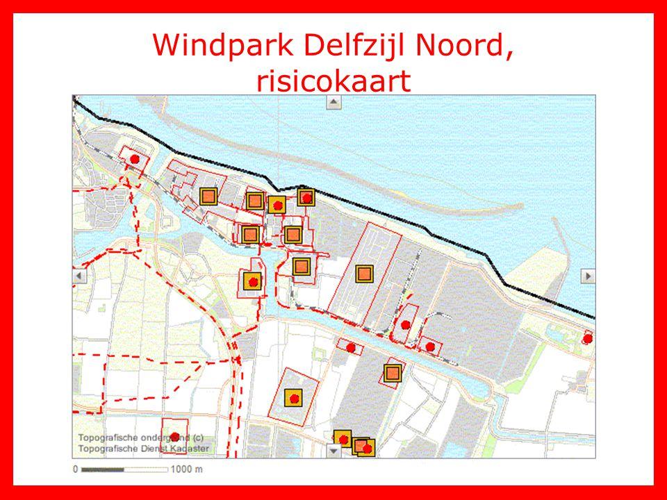 Windpark Delfzijl Noord, risicokaart