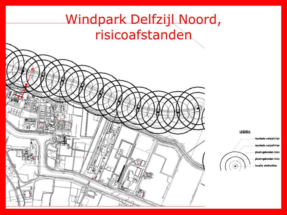 Windpark Delfzijl Noord, risicoafstanden