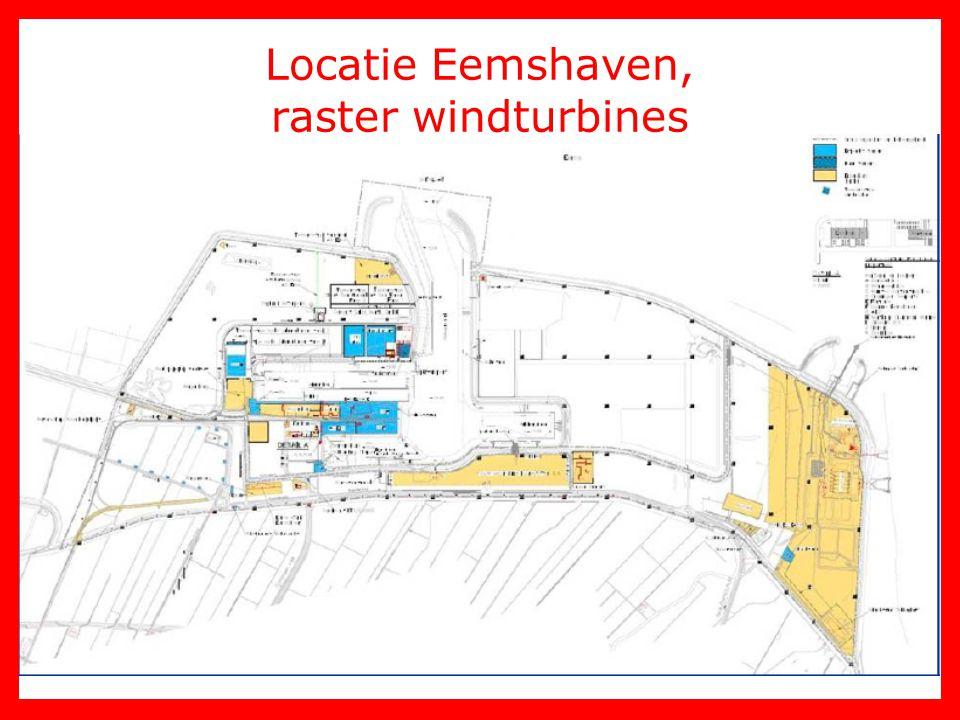 Locatie Eemshaven, raster windturbines