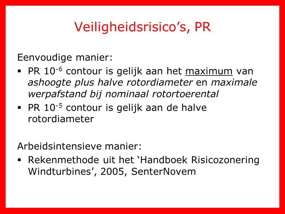Veiligheidsrisico's, PR Eenvoudige manier:  PR 10 -6 contour is gelijk aan het maximum van ashoogte plus halve rotordiameter en maximale werpafstand