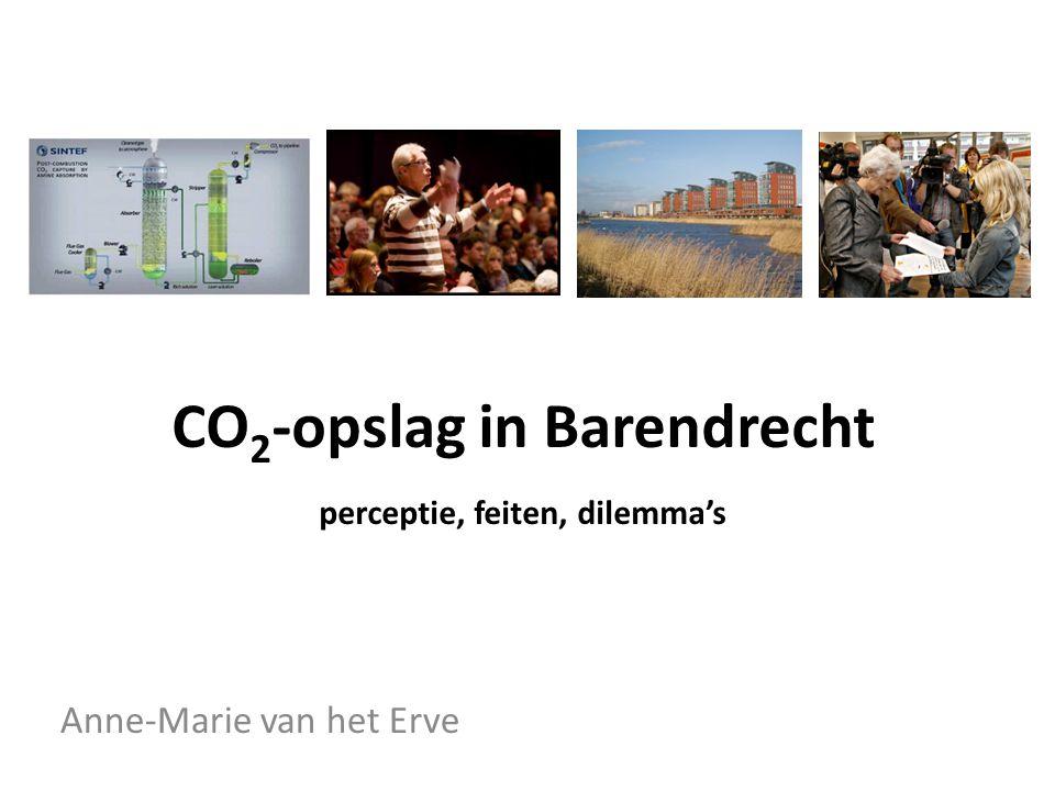 CO 2 -opslag in Barendrecht perceptie, feiten, dilemma's Anne-Marie van het Erve