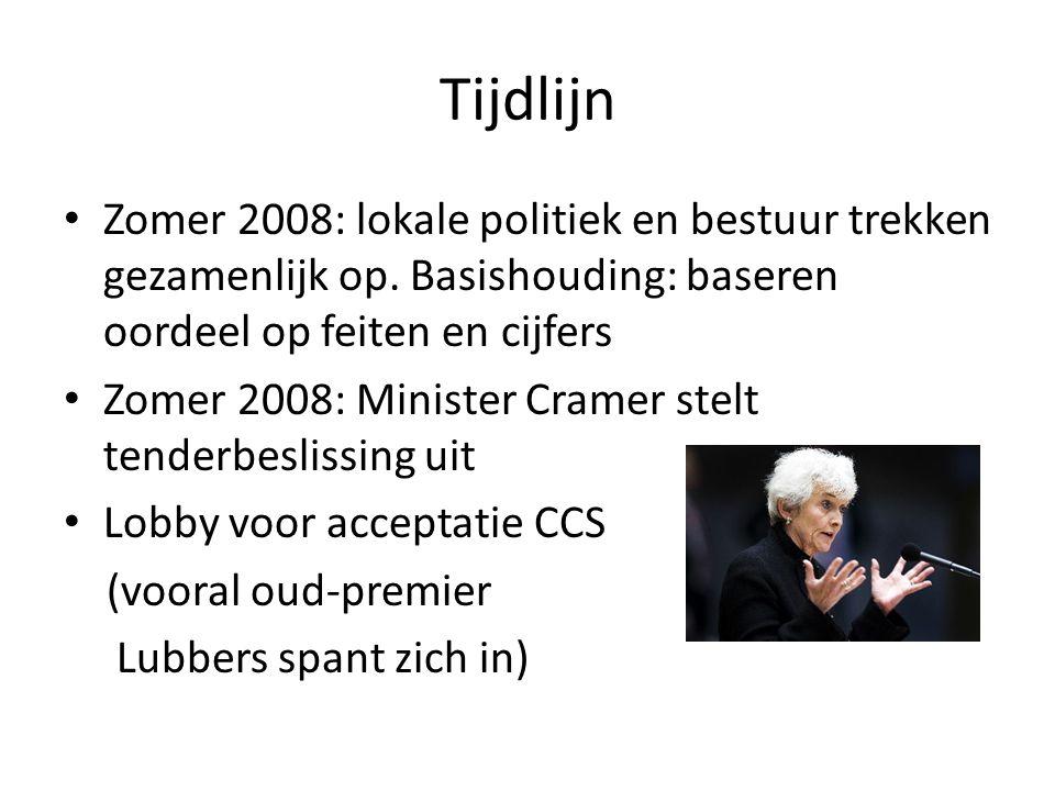 Tijdlijn Zomer 2008: lokale politiek en bestuur trekken gezamenlijk op.