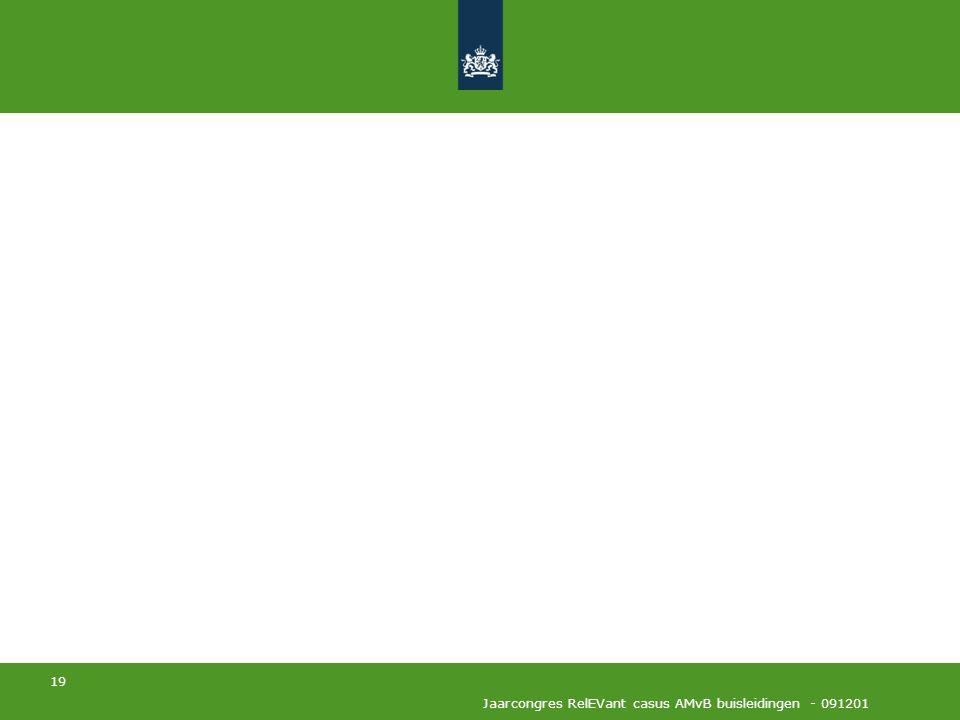 19 Jaarcongres RelEVant casus AMvB buisleidingen - 091201