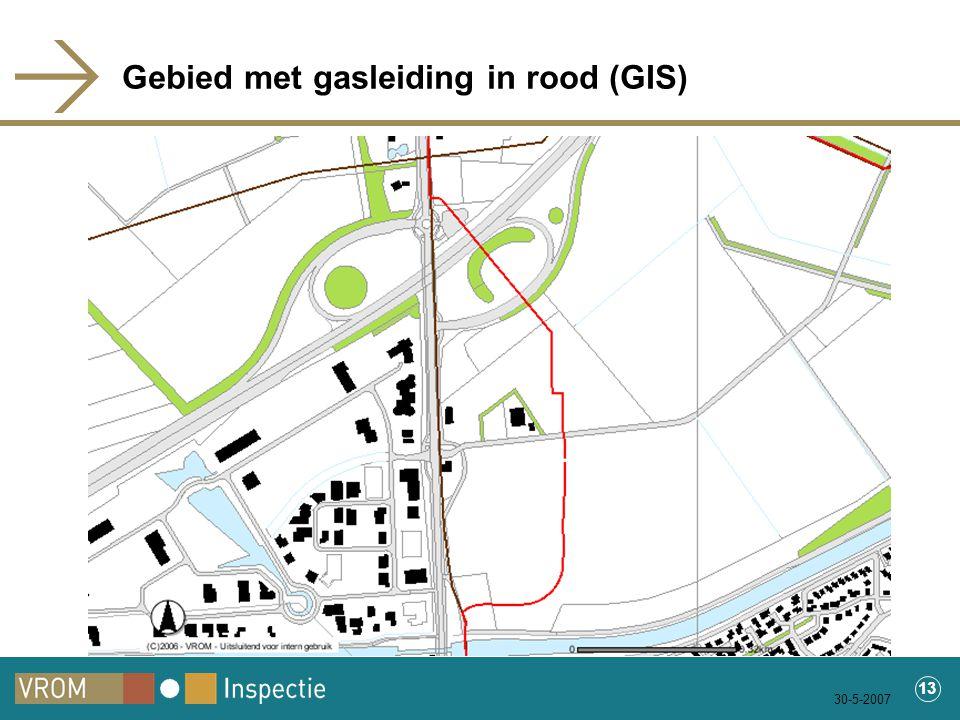 30-5-2007 13 Gebied met gasleiding in rood (GIS)
