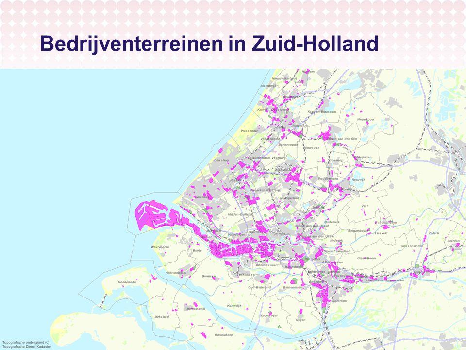 Bedrijventerreinen in Zuid-Holland