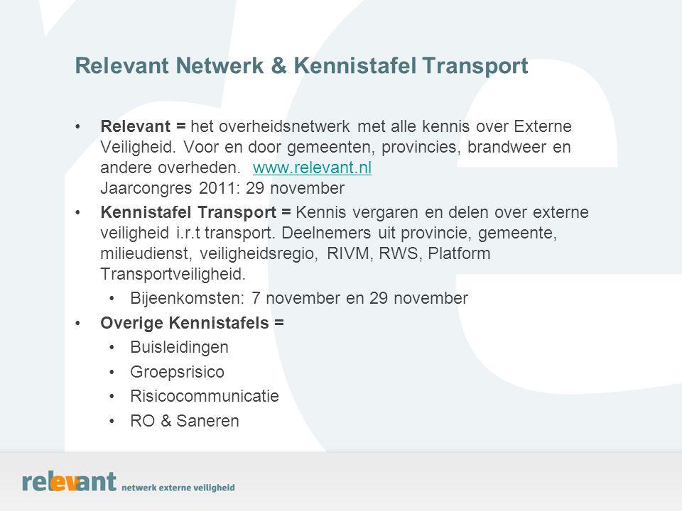 Relevant = het overheidsnetwerk met alle kennis over Externe Veiligheid. Voor en door gemeenten, provincies, brandweer en andere overheden. www.releva