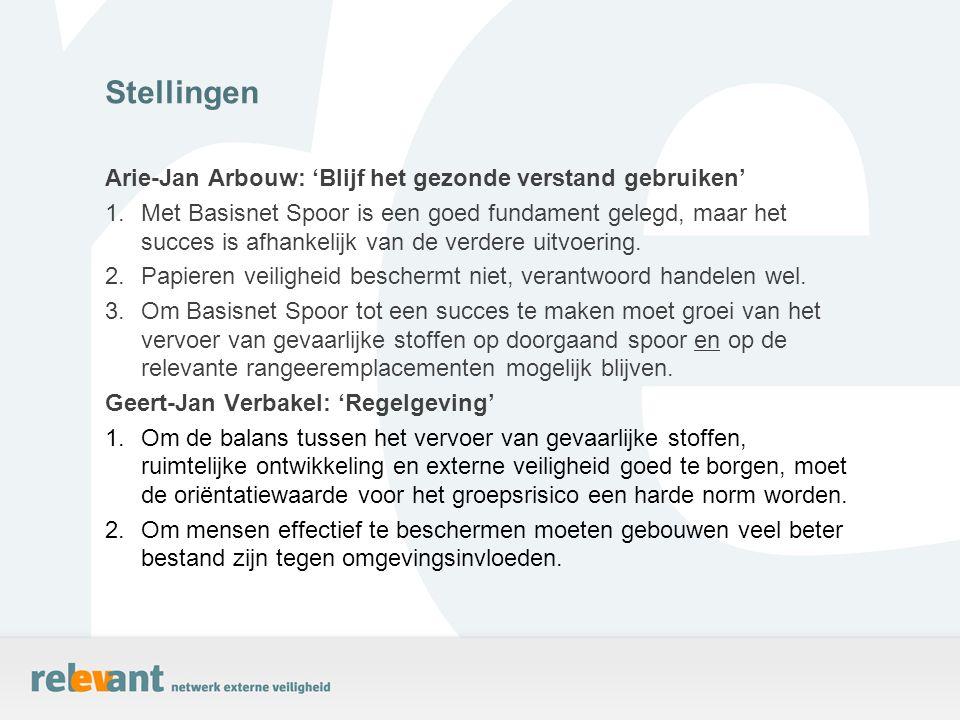 Arie-Jan Arbouw: 'Blijf het gezonde verstand gebruiken' 1.Met Basisnet Spoor is een goed fundament gelegd, maar het succes is afhankelijk van de verde