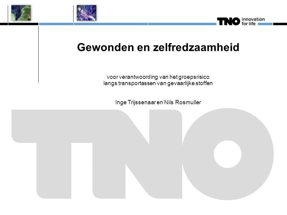Gewonden en zelfredzaamheid voor verantwoording van het groepsrisico langs transportassen van gevaarlijke stoffen Inge Trijssenaar en Nils Rosmuller