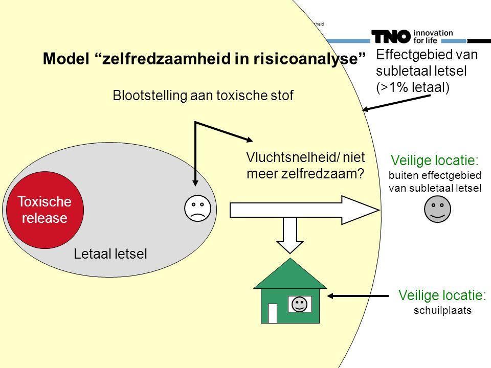 29 november 2011 Inge Trijssenaar gewonden en zelfredzaamheid 3 Effectgebied van subletaal letsel (>1% letaal) Veilige locatie: buiten effectgebied va