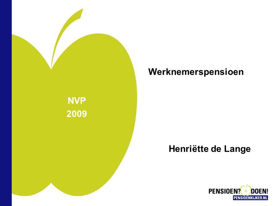 NVP 2009 Werknemerspensioen Henriëtte de Lange