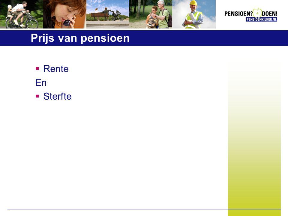 Prijs van pensioen  Rente En  Sterfte