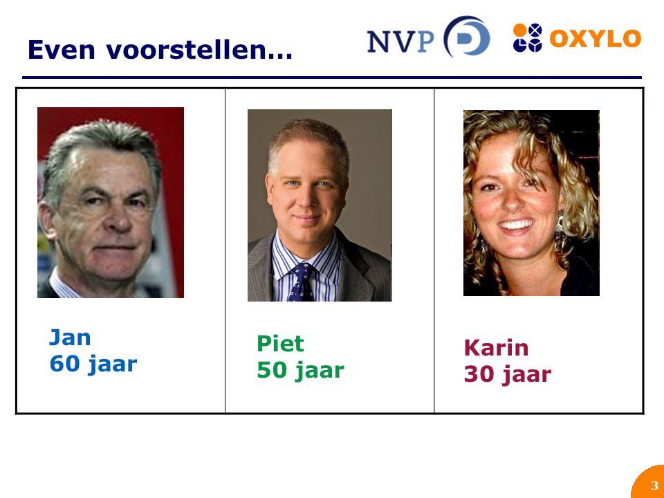 3 Even voorstellen… ` Jan 60 jaar Piet 50 jaar Karin 30 jaar