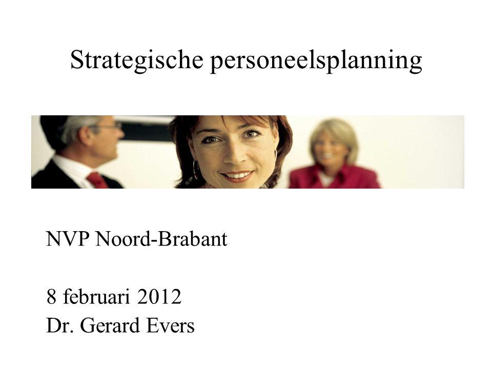 Strategische personeelsplanning NVP Noord-Brabant 8 februari 2012 Dr. Gerard Evers