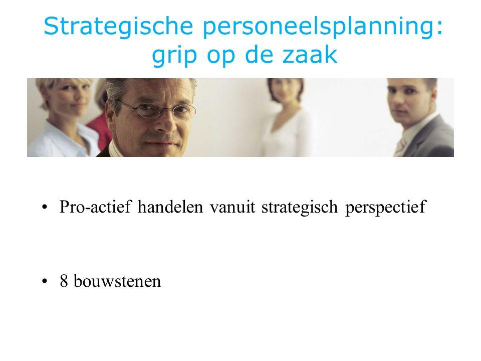 Strategische personeelsplanning: grip op de zaak Pro-actief handelen vanuit strategisch perspectief 8 bouwstenen