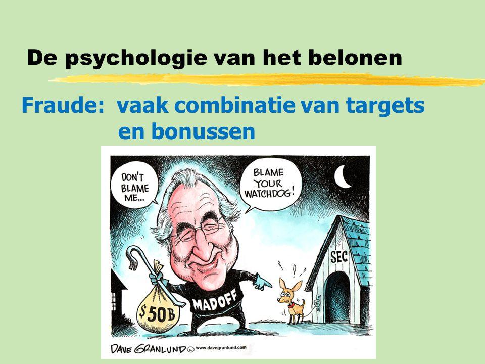 De psychologie van het belonen Fraude: vaak combinatie van targets en bonussen
