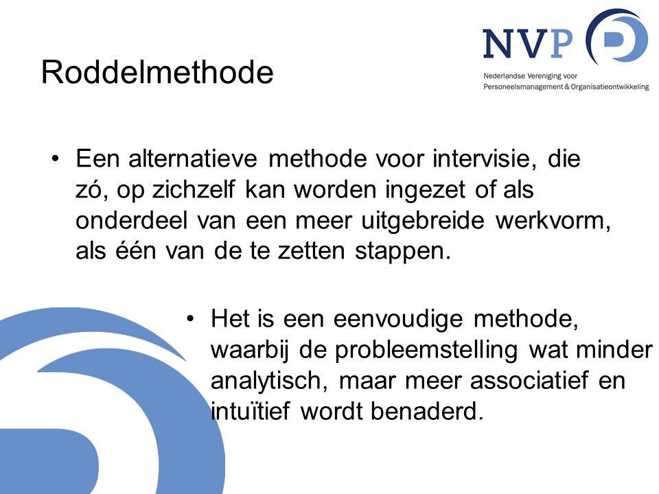 Roddelmethode Een alternatieve methode voor intervisie, die zó, op zichzelf kan worden ingezet of als onderdeel van een meer uitgebreide werkvorm, als