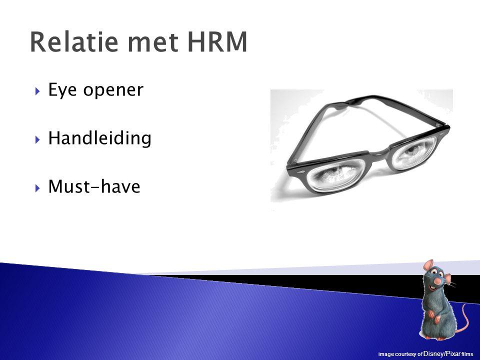  Eye opener  Handleiding  Must-have Relatie met HRM image courtesy of Disney/Pixar films