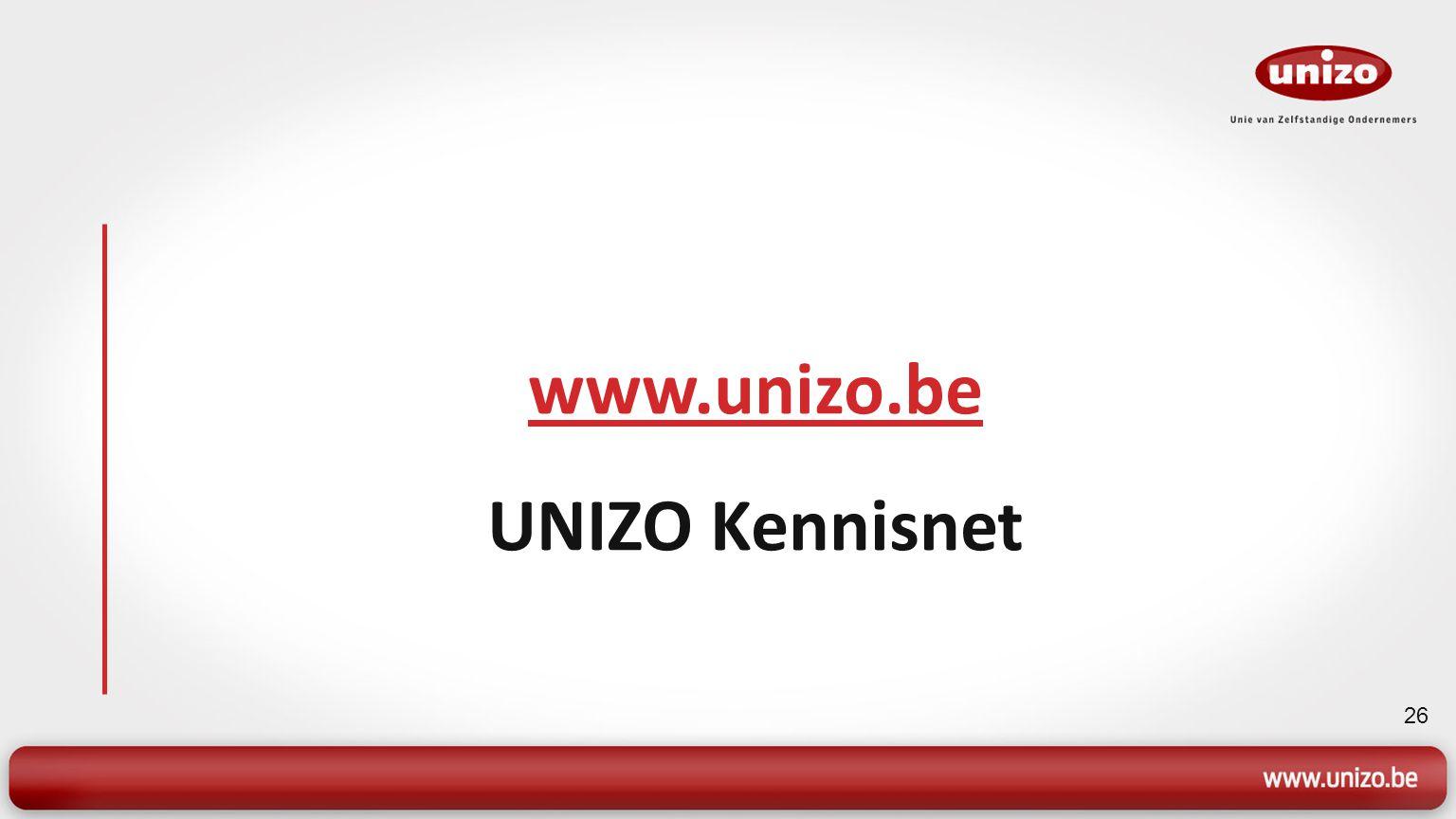 26 www.unizo.be UNIZO Kennisnet