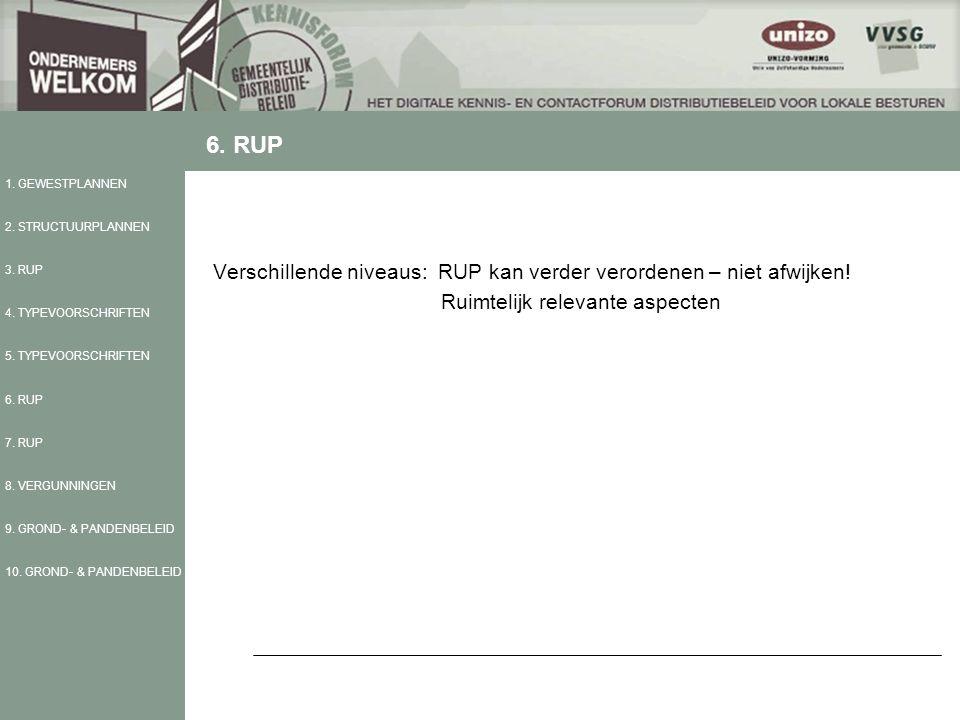 Verschillende niveaus: RUP kan verder verordenen – niet afwijken.