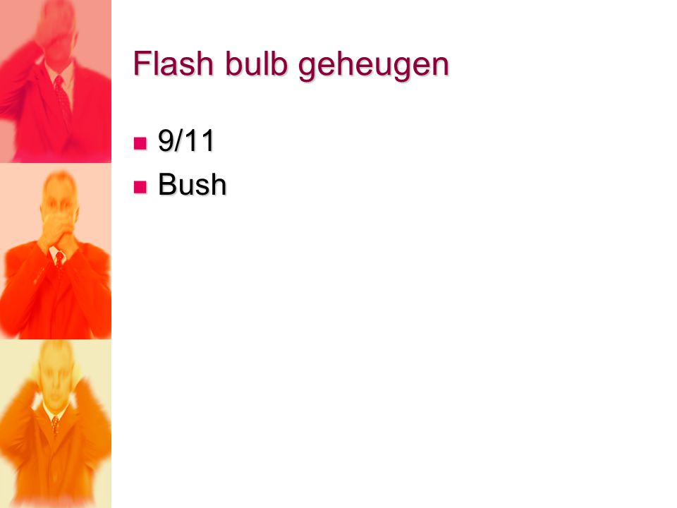 Flash bulb geheugen 9/11 9/11 Bush Bush