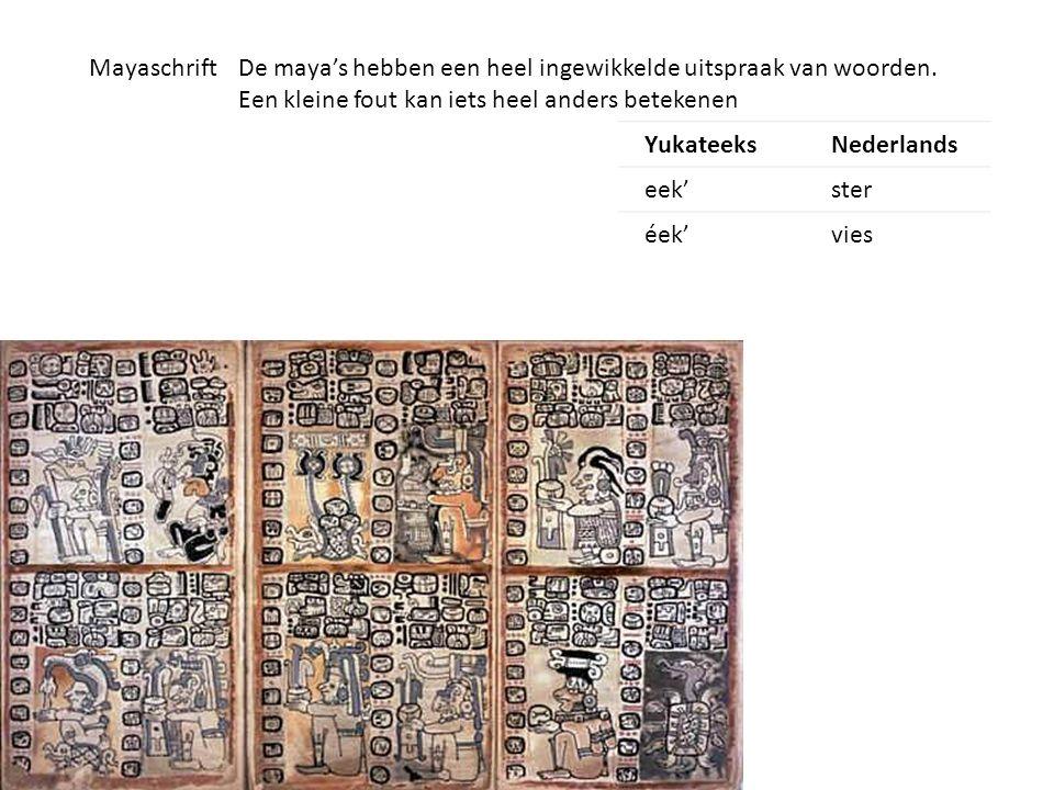 Maya's en hun gebouwen De gebouwen verschillen van Bescheiden huizen tot enorme tempels