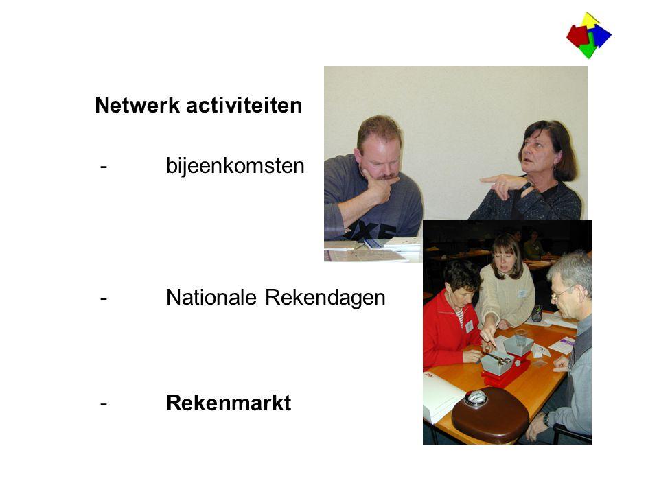 De Rekenmarkt Een goed voorbeeld van horizontale professionalizering Laat zien hoe het netwerk en het rekenweb geintegreerd zijn