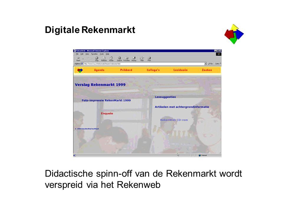 Digitale Rekenmarkt Didactische spinn-off van de Rekenmarkt wordt verspreid via het Rekenweb