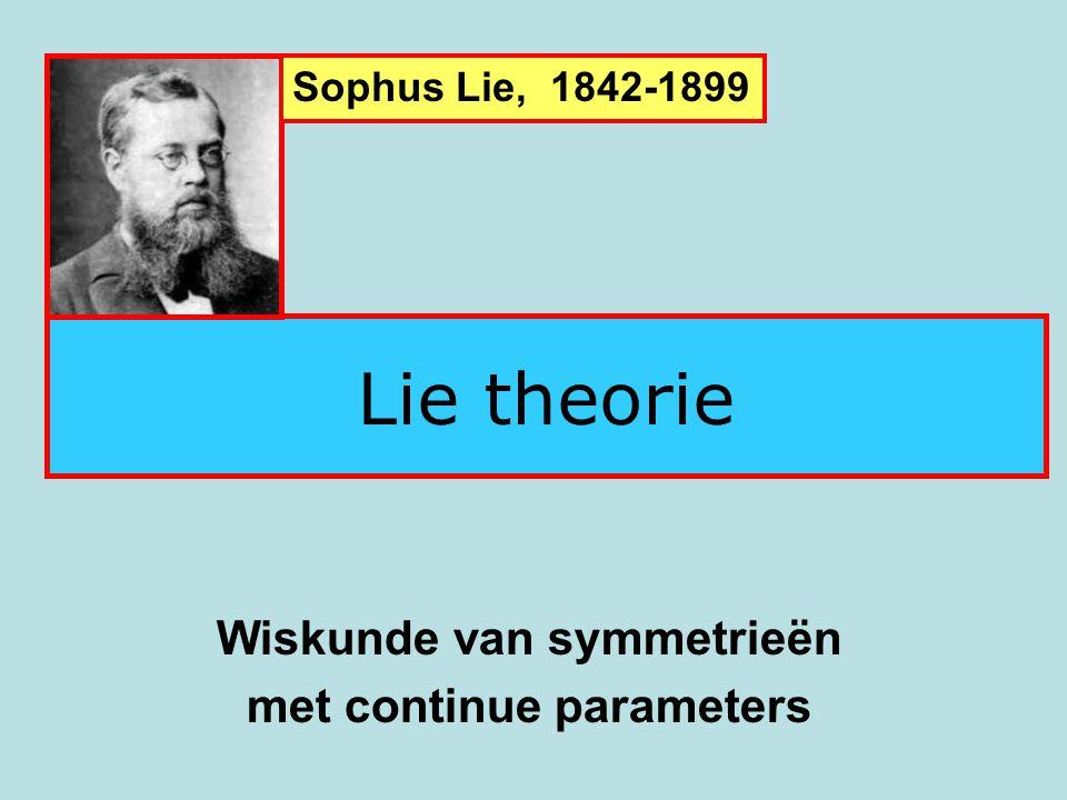 SO(3): draaiingen in de ruimte As: a Hoek: α SO(3): Lie groep van dimensie 3 D a, α α