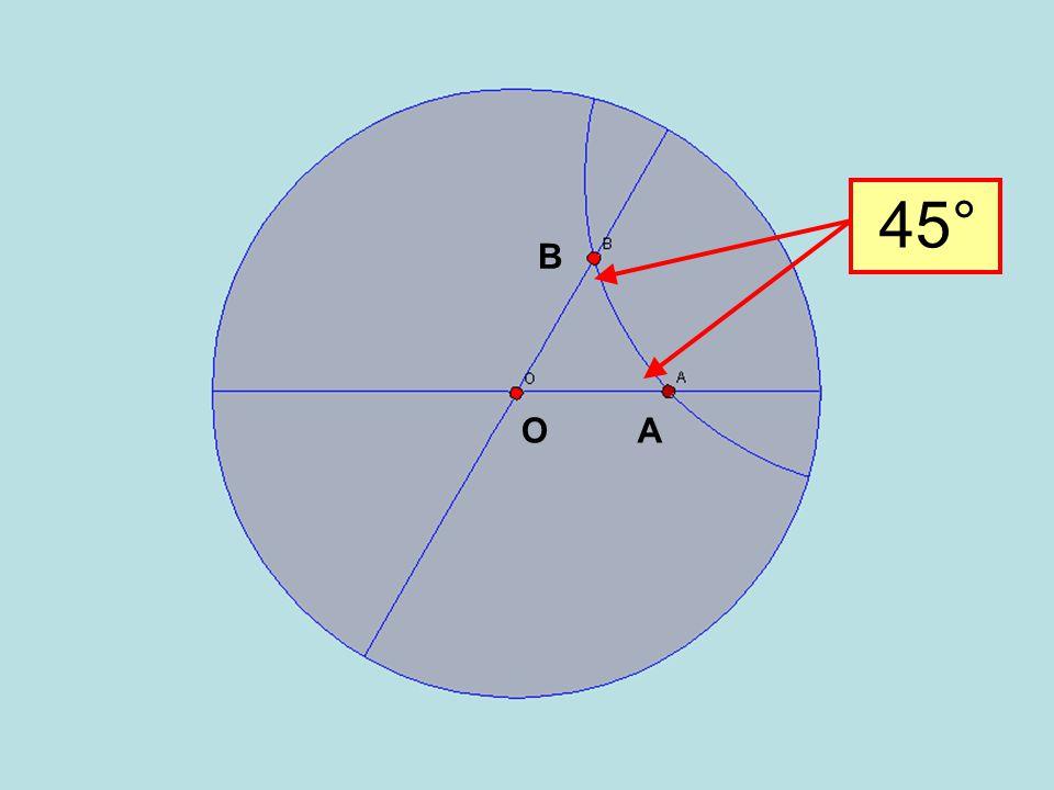 45° A B O