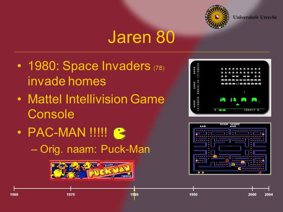 196020041980197019902000 1996 Consoles goedkoper Nieuw soort games –Simulatie/Fighting games –Meer video entertainment –Tomb Raider !!!.