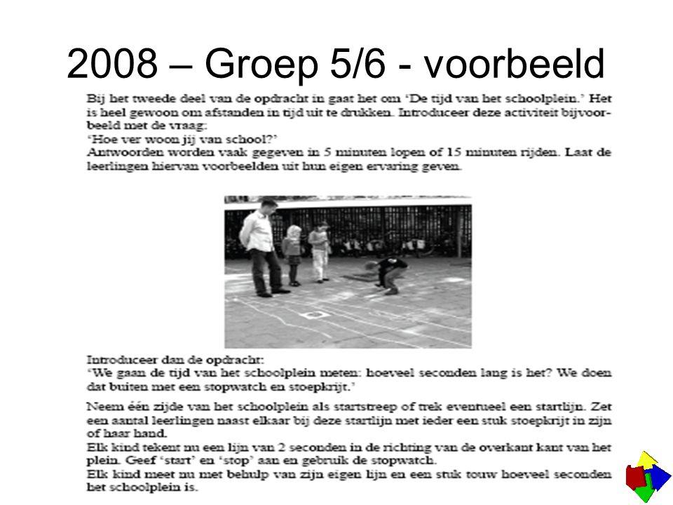 2008 – Groep 5/6 - voorbeeld