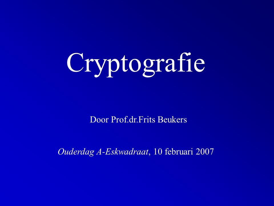 Cryptografie Door Prof.dr.Frits Beukers Ouderdag A-Eskwadraat, 10 februari 2007