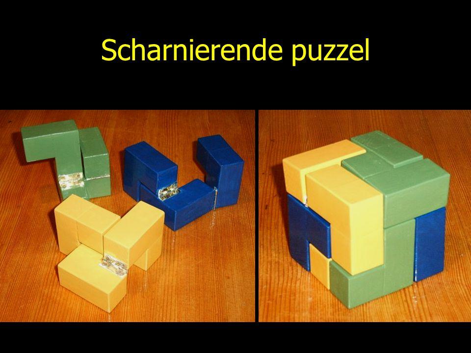 Scharnierende puzzel