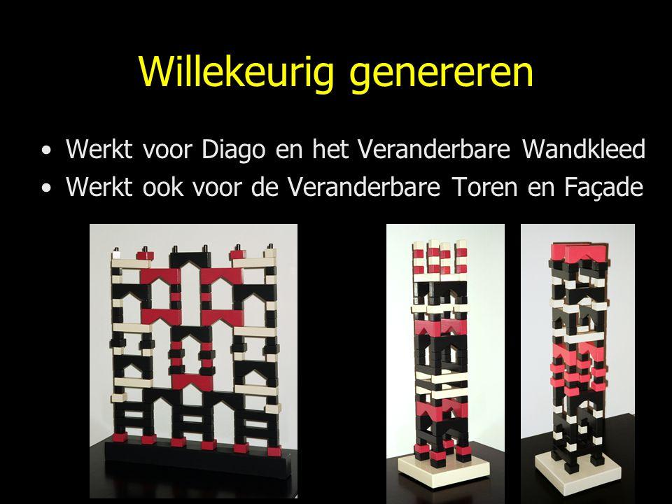 Willekeurig genereren Werkt voor Diago en het Veranderbare Wandkleed Werkt ook voor de Veranderbare Toren en Façade