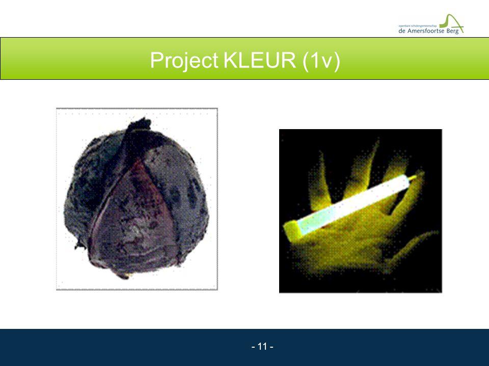 - 11 - Project KLEUR (1v)