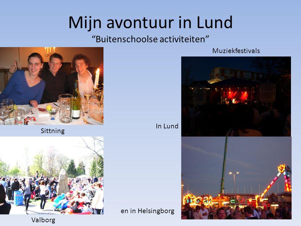 Mijn avontuur in Lund Buitenschoolse activiteiten Sittning Muziekfestivals In Lund en in Helsingborg Valborg