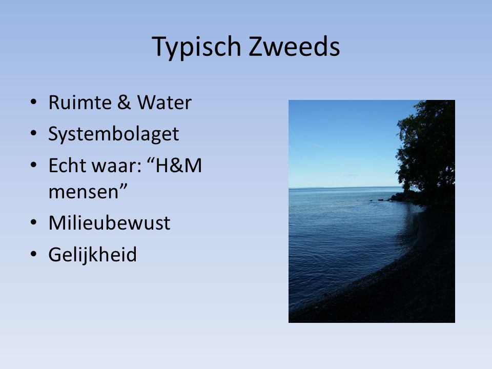 Typisch Zweeds Ruimte & Water Systembolaget Echt waar: H&M mensen Milieubewust Gelijkheid