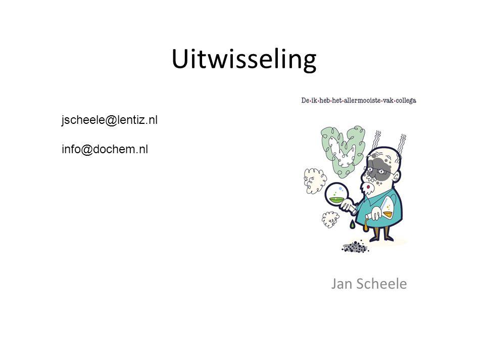 Uitwisseling Jan Scheele jscheele@lentiz.nl info@dochem.nl
