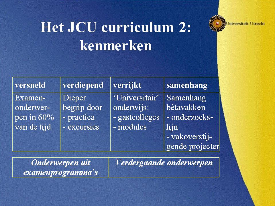 Het JCU curriculum 2: kenmerken