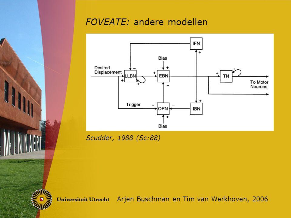 FOVEATE: andere modellen Arjen Buschman en Tim van Werkhoven, 2006 Scudder, 1988 (Sc:88)