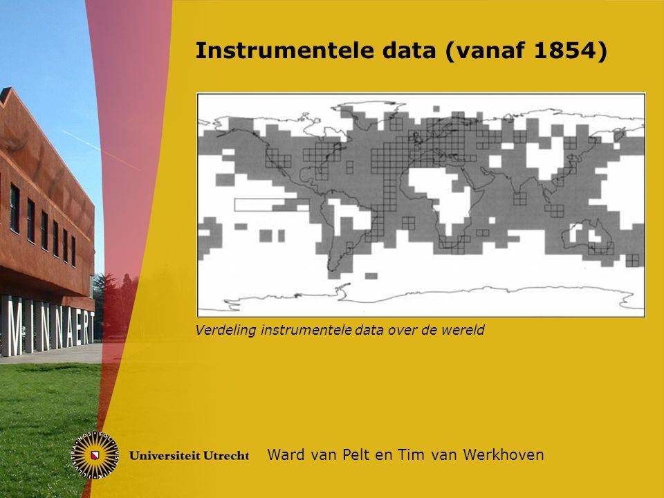 Instrumentele data (vanaf 1854) Ward van Pelt en Tim van Werkhoven Verdeling instrumentele data over de wereld
