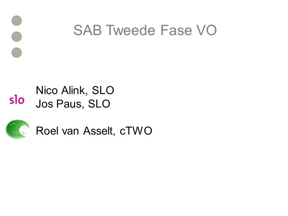 Nico Alink, SLO Jos Paus, SLO Roel van Asselt, cTWO SAB Tweede Fase VO