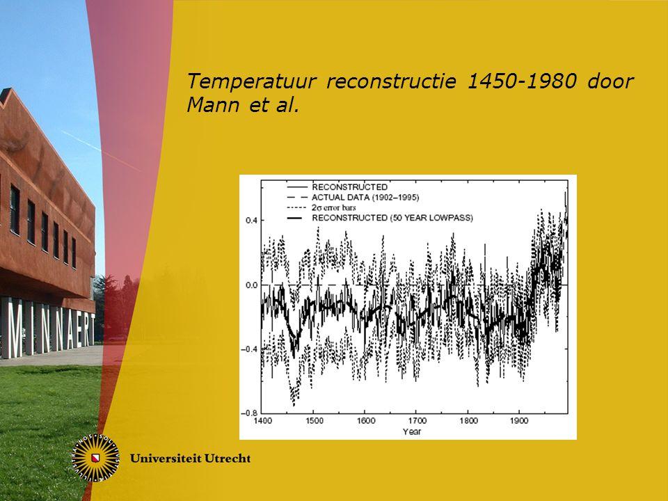 Temperatuur reconstructie 1450-1980 door Mann et al.