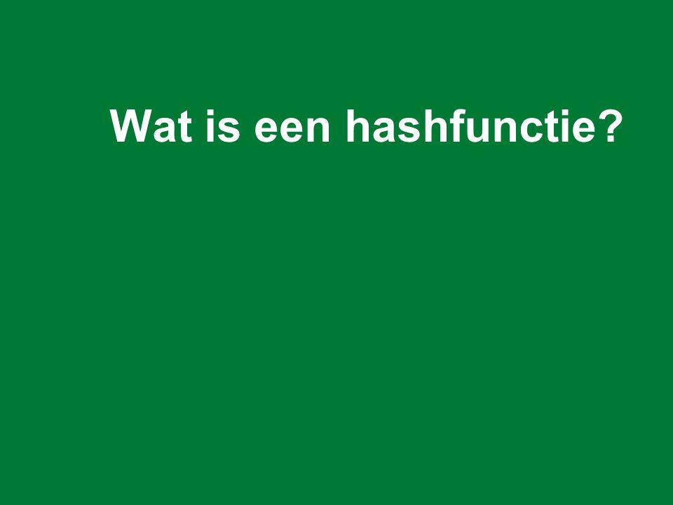 Wat is een hashfunctie?