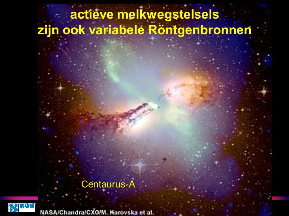 actieve melkwegstelsels zijn ook variabele Röntgenbronnen Centaurus-A