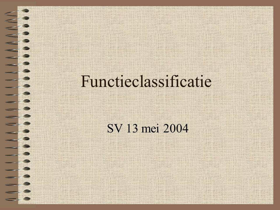 Functieclassificatie SV 13 mei 2004